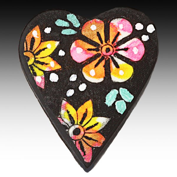 Brooch with White Spot Flower