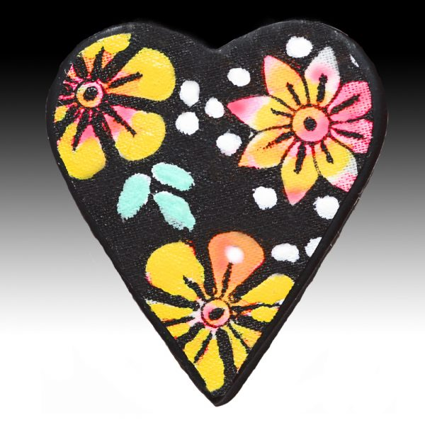 Brooch with Yellow Flowers