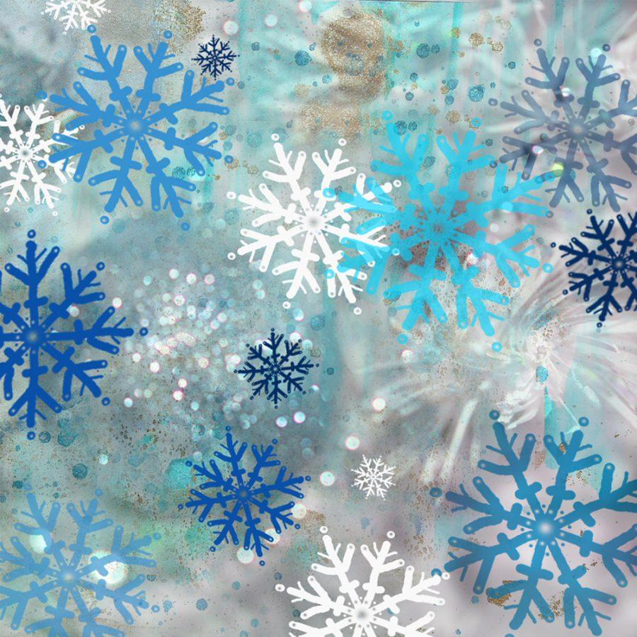 Icy Blue Snowflake