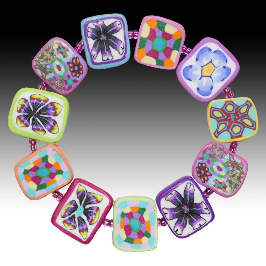 Bracelet with Kaleidoscope Beads