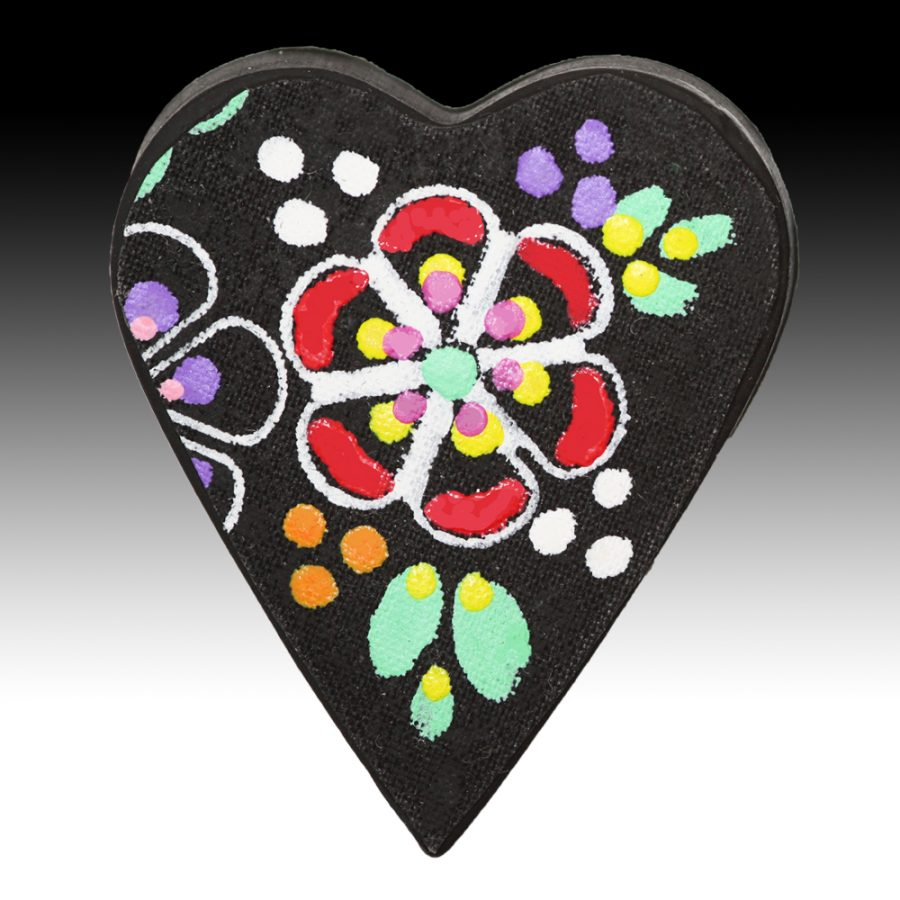 Brooch with Red Petal Detail