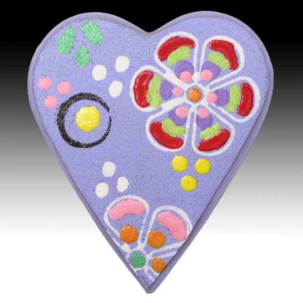 Lavender Brooch with Yellow Spots