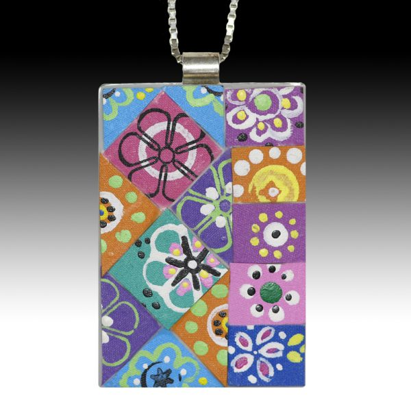atchwork Rectangle Pendant