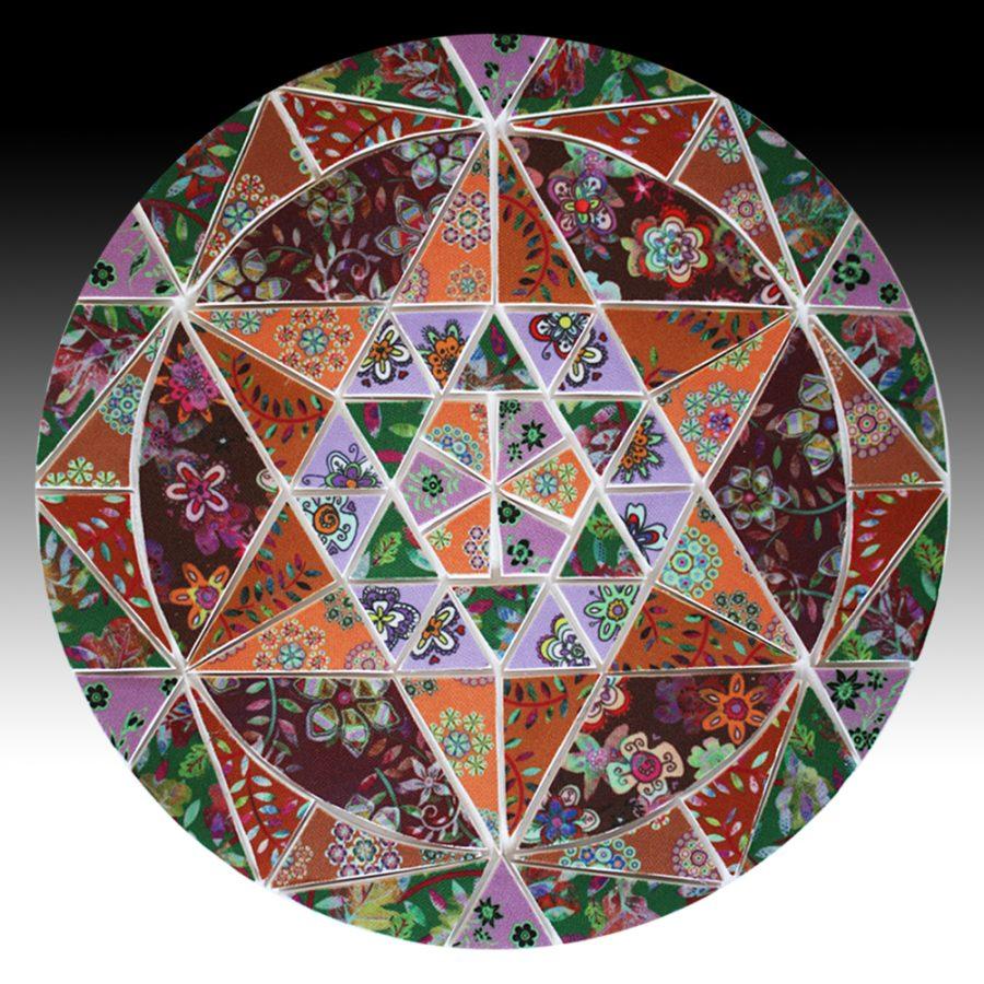 Suzi Pye autumn colour circle mosaic