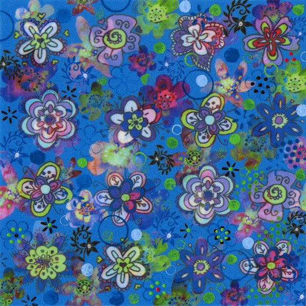 Suzi Pye azure watercolour flowers