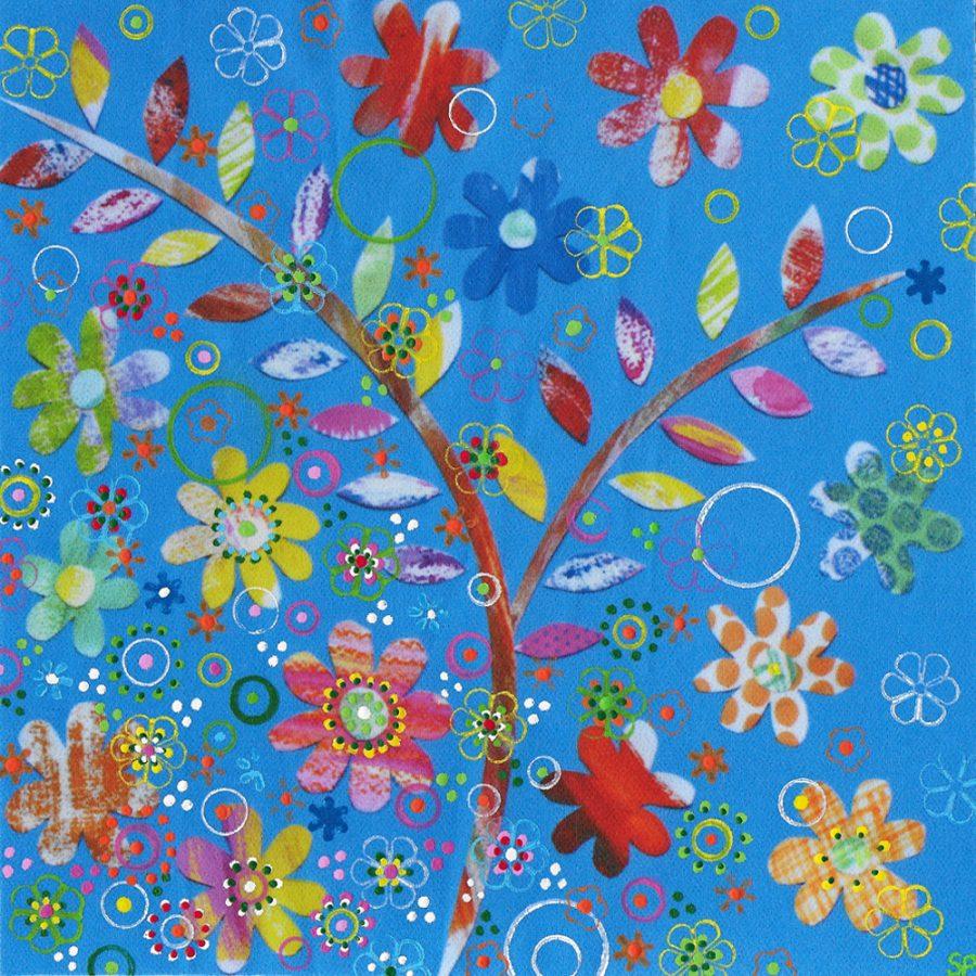 Suzi Pye leaves-flowers-on-cerulean