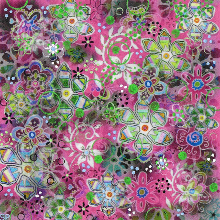 Suzi Pye spiral-flowers-on-fuchsia