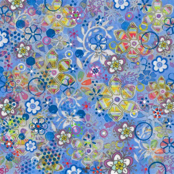 Suzi Pye spiral-flowers-on-sky-blue