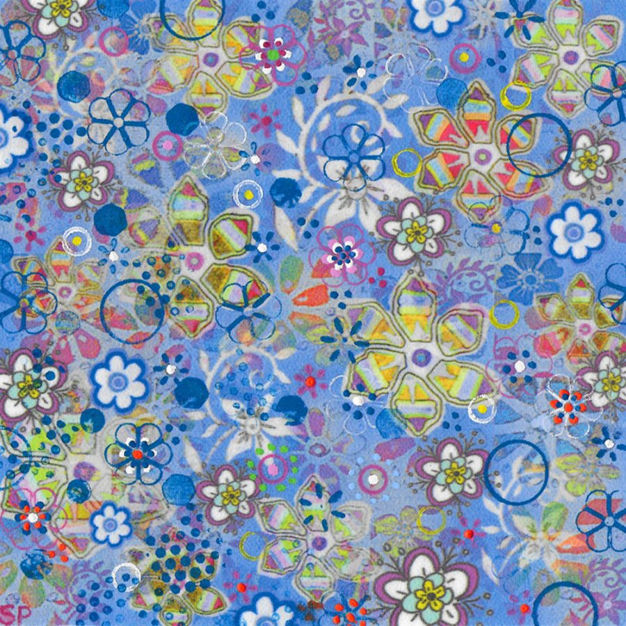 Suzi Pye spiral-flowers-on-sky-blue