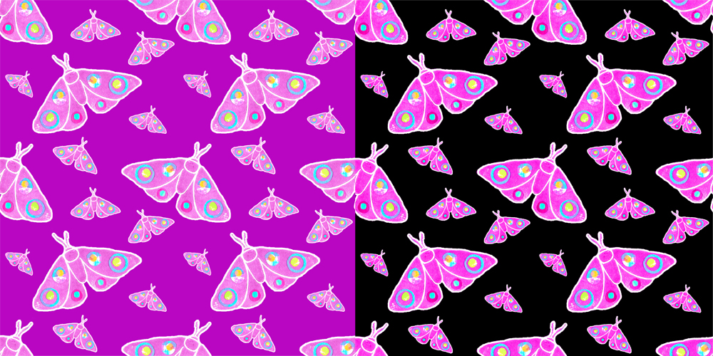 M for Moth repeat patterns