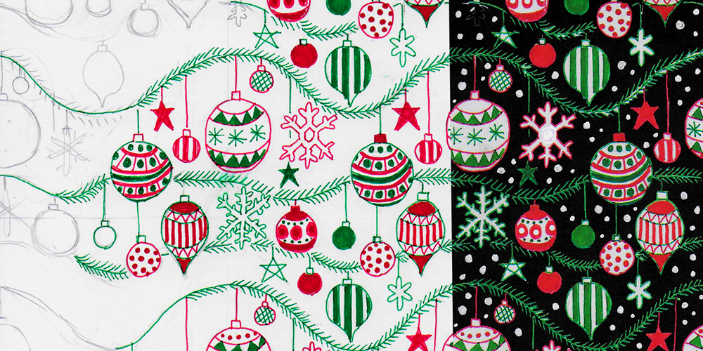 X for Xmas repeat pattern