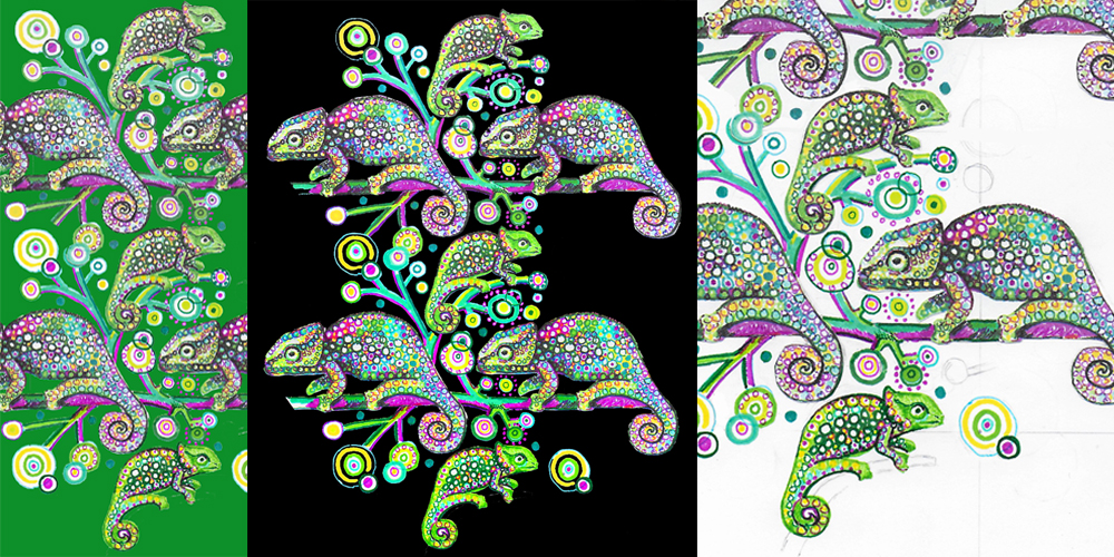 Chameleons repeat pattern