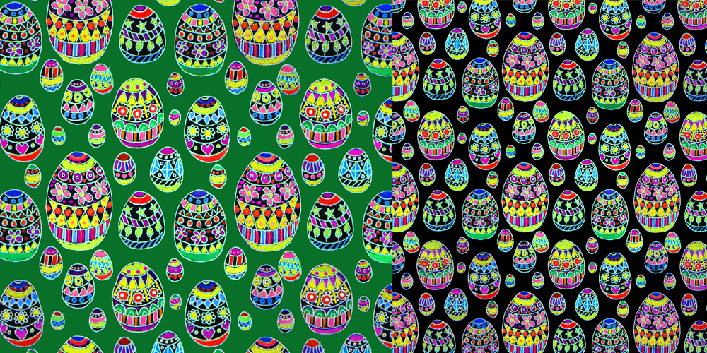 Easter Eggs repeat pattern